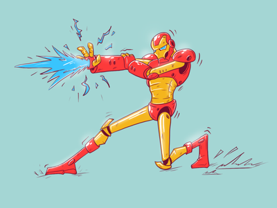 iron man character avengers marvel red digital drawing art ironman