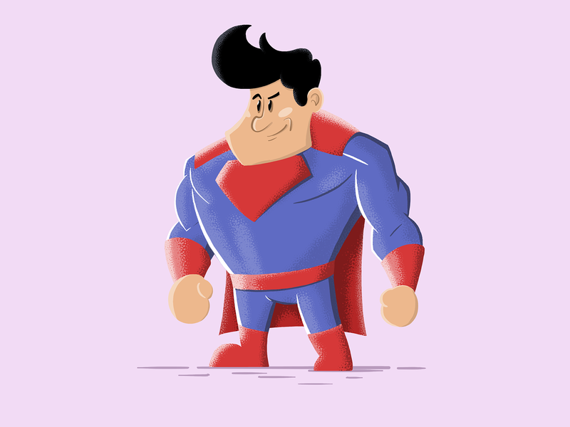 Superman movie dccomics blue red drawing art painting illustration design character superman