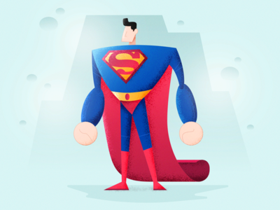 Superman colors illustration illustrator draw drawing character design artist art vector superman