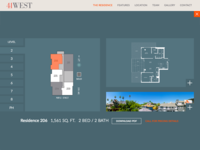 Responsive floorplan build with floors and detail