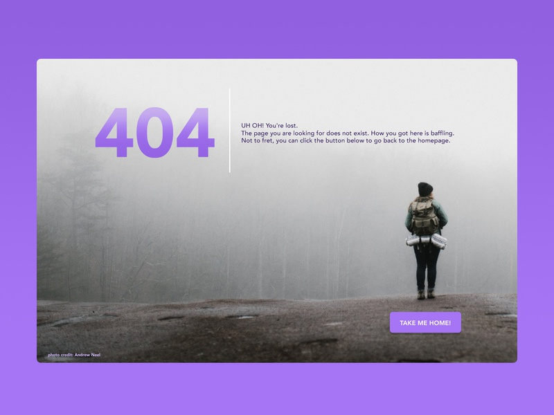 Weekly Warmup #25 website design lost webdesign 404 error page 404page weekly challenge dribbbleweeklywarmup design