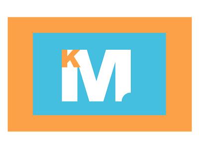 KM identity branding weekly challenge dribbbleweeklywarmup design