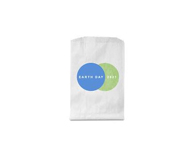 Earth Day 2021 2021 earth green blue paperbag identity weekly challenge dribbbleweeklywarmup design