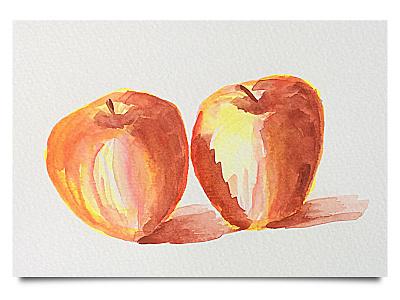 Weekly Warmup: Apples watercolor apples illustration weekly challenge dribbbleweeklywarmup