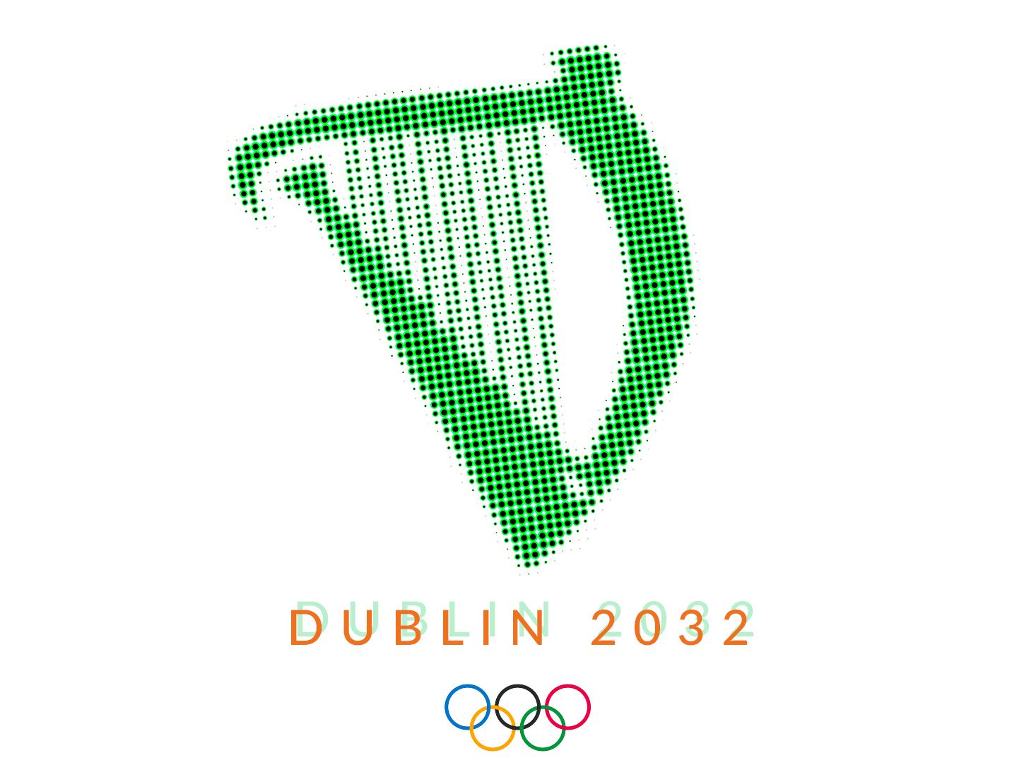 Dublin 2032 Olympics sports design branding olympics dublin logo