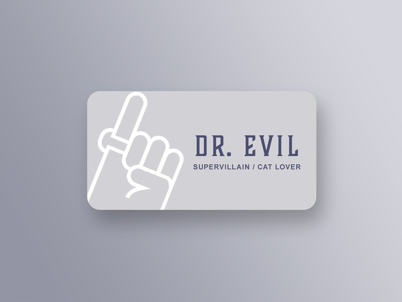 Business card for Dr. Evil pinkie business card card