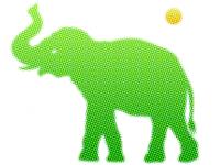 Elephant - halftone