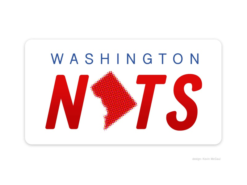 Washington Nationals signage red halftone dc identity branding logo baseball design