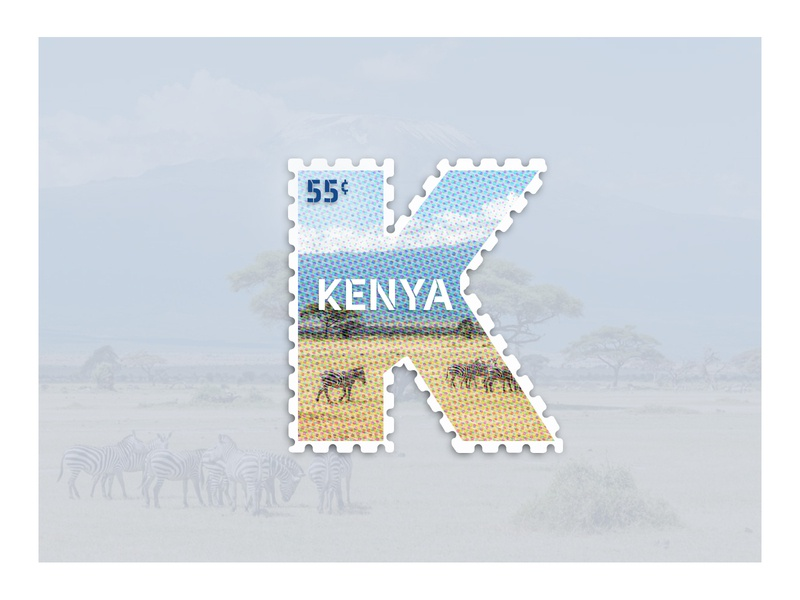 Weekly Warm-Up: Week 10 zebra kit kenya stamp weekly challenge halftone dribbbleweeklywarmup design