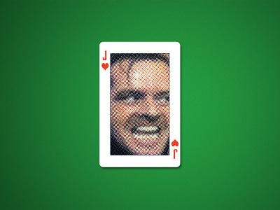 Weekly Warmup #11 jack card design halftone weekly challenge dribbbleweeklywarmup