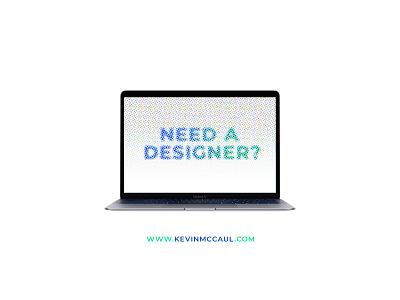 Need a designer? available illustration logo branding ui halftone design