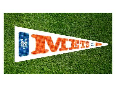 Weekly Challenge #21 pennant new york baseball typography halftone weekly challenge dribbbleweeklywarmup design