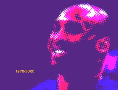 Kobe Bryant basketball halftone identity illustration design