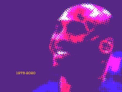 Kobe Bryant basketball halftone identity illustration design