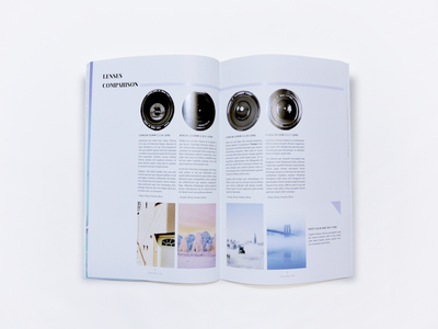 Magazine Design leeseul production print design photography magazine clean minimalism layout