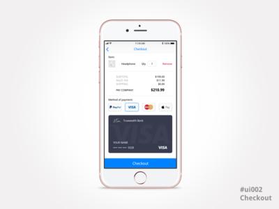 Checkout UI mobile leeseul daily 100 challenge uichallenge iphone design payment ui dailyui002 checkout