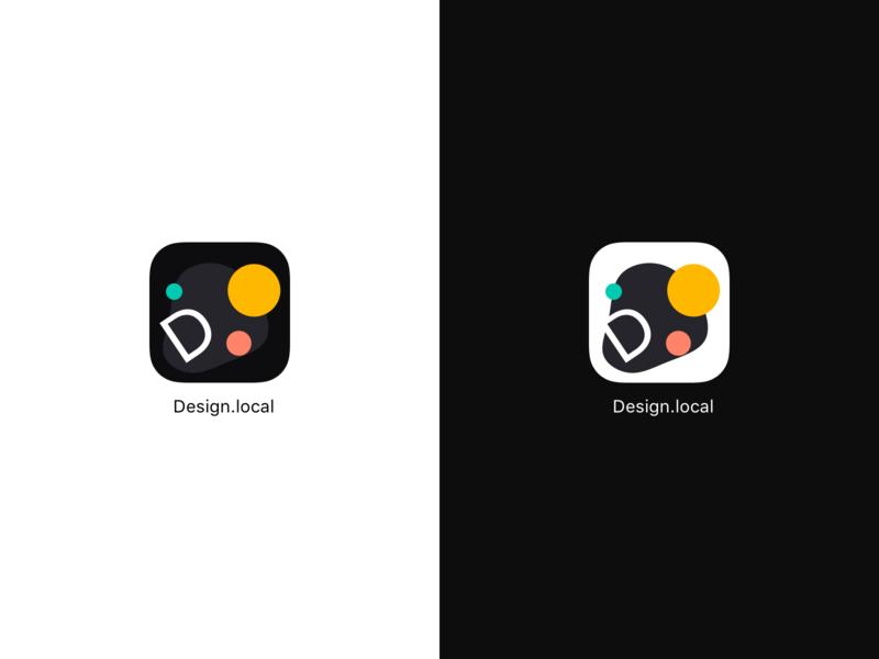 Design.local App Icon dark mode mockup dailyui005 dailyui clean leeseul ui
