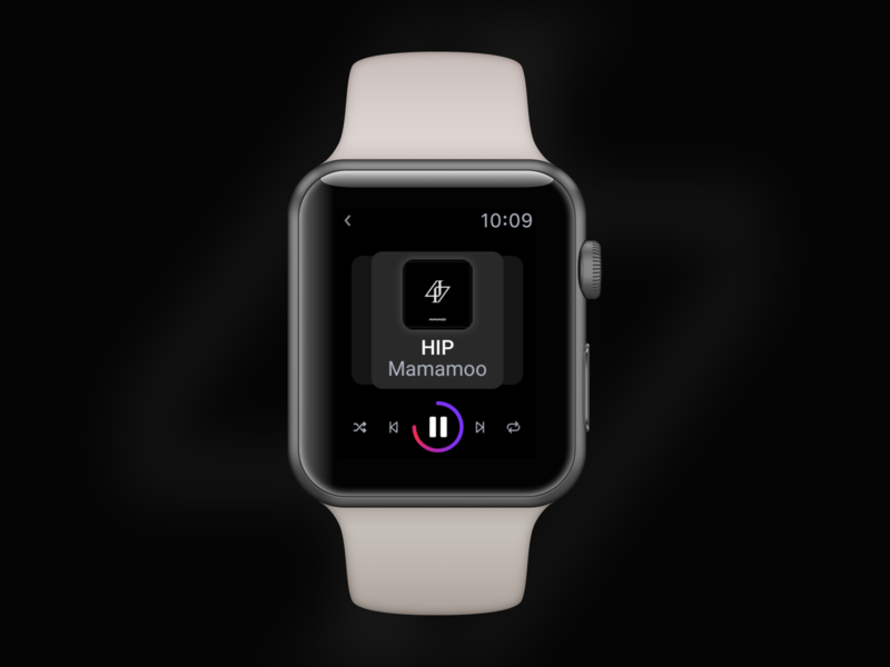 Music Player on Apple Watch dailyuichallenge ui design small interface applewatch musicplayer dailyui009 leeseul ui