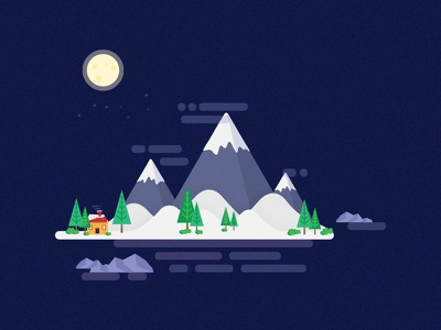 Mountain Island smashing magazine night big dipper moon snow mountains wallpaper vector