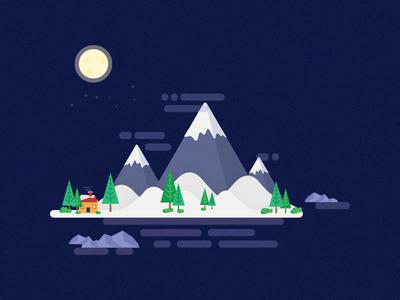 Mountain Island smashing magazine night big dipper moon snow mountains wallpaper vector