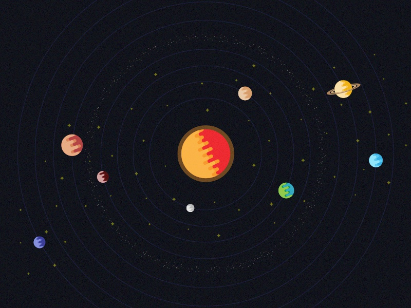 The System smashing magazine solar system planets wallpaper stars