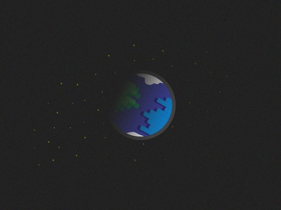Earth Hour vector illustration stars space earth