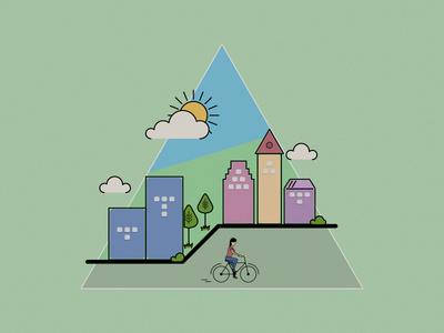 Lets ride vector biking summer