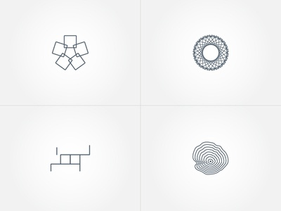 Logo concepts pattern icon furniture concept logo