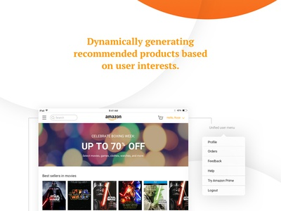 Revamping the Amazon experience photoshop illustrator sketch mobile tablet redesign interaction ui ux concept amazon
