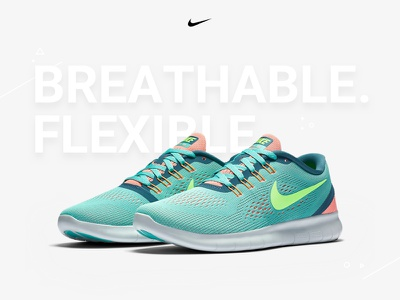 Nike free run user experience user interface sketch shoe shop nike concept
