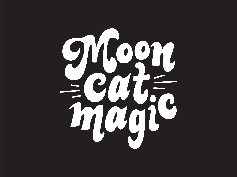 Moon Cat Magic Logo tarot typography logo design