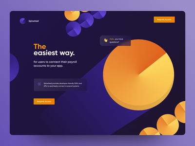 Payroll system wheel spin coin web app finance app fintech banking bank app home page web design concept figma