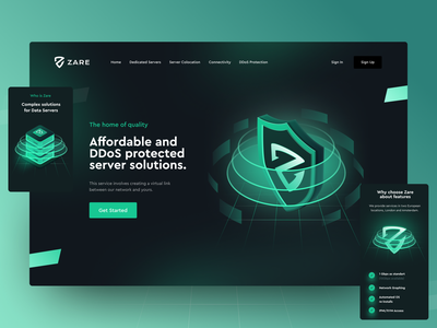 DDoS Protection figma 3d landing web app web servers http colocation dedicated server dedicated link virtual connections connection network lan service cyber server ddos