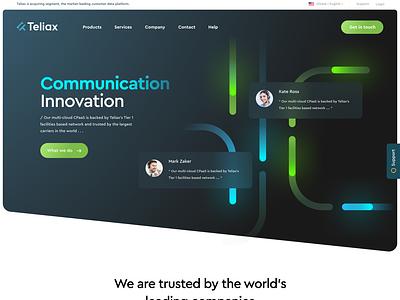 Communication Platform web design figma help chat voice voip message concept landing connect cloud saas cpaas network telephone communication
