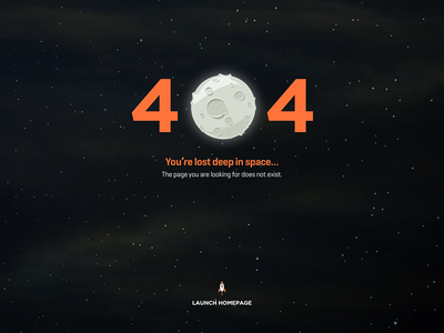 404 Error Page does not exist error page launch moon space lost error 404