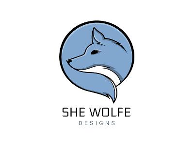 She Wolfe Designs branding logo rebrand personal designer wolf tail personal logo personal branding