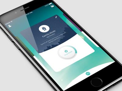 Mode App ui design mobile app stop start button ui dashboard card cards mode