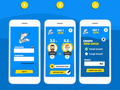 Mobile App UI and UX - Fishing Game