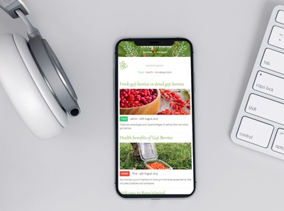 Blog Website for Goji Berry - Responsive Mode