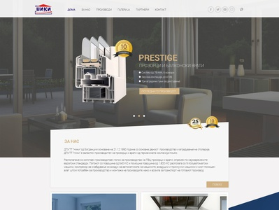 Home page design for windows and doors - UI and UX