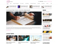 Home page - News website