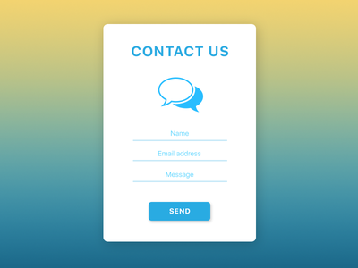 Daily UI Challenge 028 — Contact Us contactus interface userinterface uxdesign uidesign ux ui web webdesign proectica