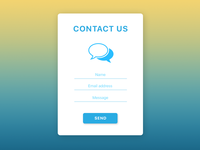 Daily UI Challenge 028 — Contact Us