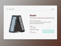Daily UI Challenge 032 — Crowdfunding Campaign