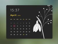 Daily UI Challenge 038 — Calendar