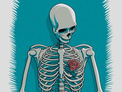 The Avett Brothers Deadwood, SD Poster avett poster screen print deadwood south dakota skeleton rose
