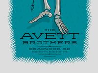 The Avett Brothers Deadwood, SD Poster