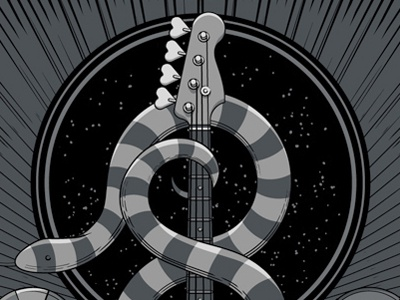 The Avett Brothers Las Vegas, NV Night 1 Poster screen print triptych snakes las vegas nevada bass metallics avett gig poster