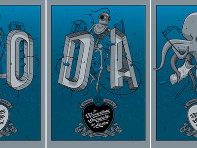 La M.O.D.A. Madrid Triptych lamoda madrid spain triptych gig poster