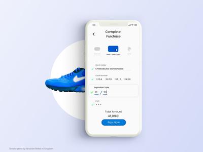 Sneaker Store Checkout - Mobile UI Concept 2/2
